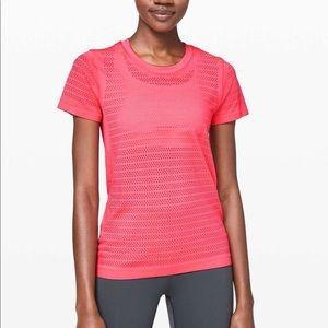 Lululemon Breeze by Short Sleeve Squad Pink